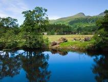 苏格兰,夏天横向 免版税库存照片