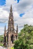苏格兰,爱丁堡, 7月2016 01日:斯科特纪念品,爱丁堡 图库摄影