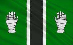 苏格兰,英国的克拉克曼南郡理事会旗子  向量例证
