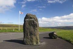 苏格兰-英国边界,诺森伯兰角,英国 图库摄影