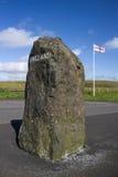 苏格兰-英国边界,诺森伯兰角,英国 免版税库存图片
