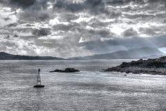 苏格兰HDR海景 免版税库存照片
