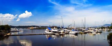 苏比克湾全景。 免版税图库摄影