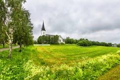 苏特兰教会在苏特兰在诺尔兰县,挪威 免版税库存图片