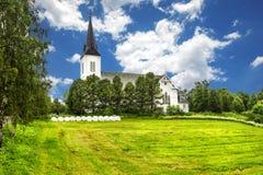 苏特兰教会在苏特兰在诺尔兰县,挪威 免版税图库摄影