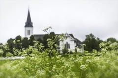 苏特兰教会在苏特兰在诺尔兰县,挪威 库存图片