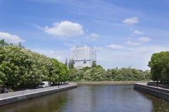 苏维埃议院的未完成的大厦  大厦位于加里宁格勒市中心广场  免版税图库摄影