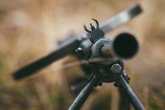 苏联俄国军用弹药-机枪 库存照片