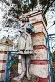 苏联先驱老雕象  库存照片