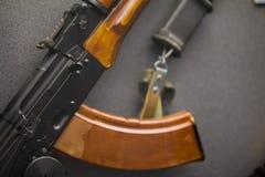 苏联军用自动步枪-俄国武器 免版税库存照片