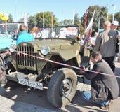 苏联军车GAZ-67 免版税库存照片