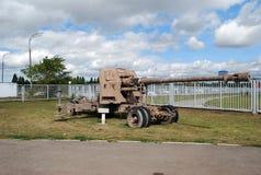 苏联军队的火炮武器 免版税库存照片