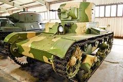 苏联喷火的坦克OT-130 图库摄影