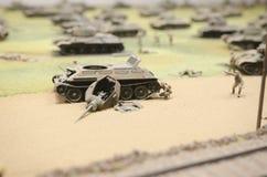苏联坦克击毁在操作Prokhorovka以后, 1943年 免版税库存图片