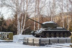 苏联坦克纪念碑 图库摄影
