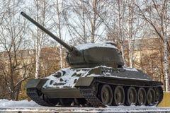 苏联坦克纪念碑 库存照片