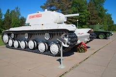苏联坦克KV-1和BT-5巨大爱国战争,列宁格勒地区的期间 免版税库存照片