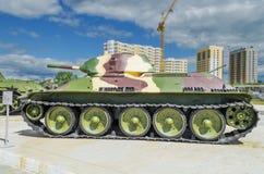 苏联坦克T-34-76在博物馆 免版税库存图片