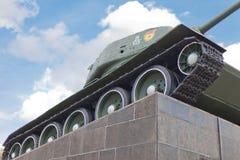 苏联坦克T-34在米斯克 库存照片