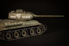 苏联坦克T-34/85模型 库存图片
