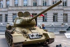 苏联坦克T-34 85 库存照片