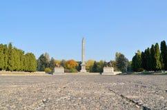 苏联士兵公墓陵墓在华沙 免版税库存照片