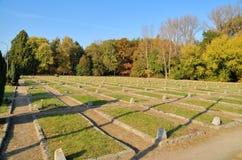 苏联士兵公墓陵墓在华沙 库存照片