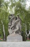苏联士兵雕塑英雄的在伏尔加格勒摆正 库存照片