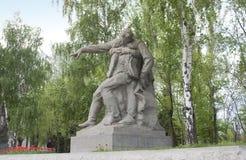苏联士兵雕塑英雄的在伏尔加格勒摆正 库存图片