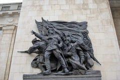苏联士兵雕塑  免版税库存图片