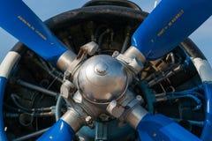 苏联安托诺夫An2小型飞机的活塞引擎 免版税库存图片