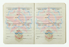 苏联官员军事ID从1982年 免版税库存图片