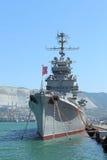 苏联巡洋舰米哈伊尔・库图佐夫 免版税库存照片
