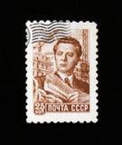 苏联工程师,建设者,建造者,大约1956年 免版税库存图片