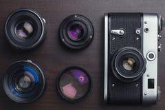 苏联影片照相机顶视图 免版税库存图片
