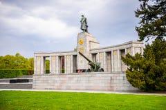 苏联战争纪念建筑(蒂尔加滕)在柏林 图库摄影