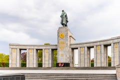 苏联战争纪念建筑(蒂尔加滕)在柏林 库存图片
