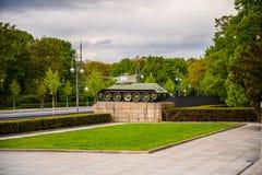 苏联战争纪念建筑(蒂尔加滕)在柏林 免版税库存图片