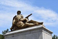 苏联战士的纪念碑在华沙 库存照片