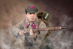苏联战士ww2攻击 库存照片