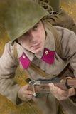 苏联战士ww2攻击 免版税库存照片