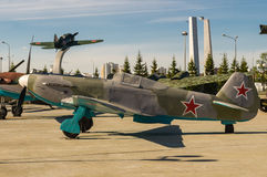 苏联战斗机,军事历史博物馆, Ekaterinburg,俄罗斯展览, 免版税库存照片