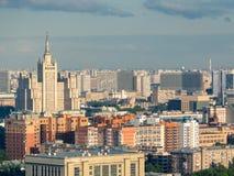 苏联摩天大楼和屋顶 免版税图库摄影