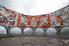 苏联时代的纪念碑 免版税库存图片