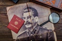 苏联期间的老葡萄酒事 免版税库存照片
