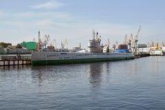 苏联柴油潜水艇S-189 免版税库存图片