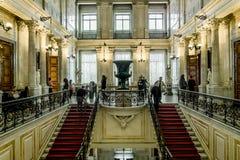 苏联楼梯在偏僻寺院在圣彼德堡 俄国 免版税库存照片