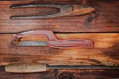 苏联的时代的金属制品工具 库存图片