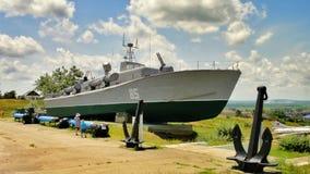 苏联的老军用军舰 免版税图库摄影