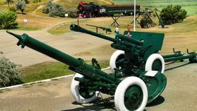 苏联的老火炮枪 免版税库存照片